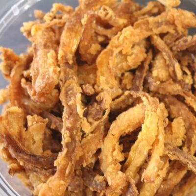Einkorn French Fried Onion Toppers in a Bowl