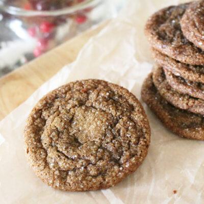 Einkorn gingersnap cookie dough